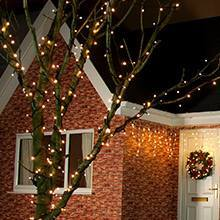 Warm White outdoor Christmas tree lights